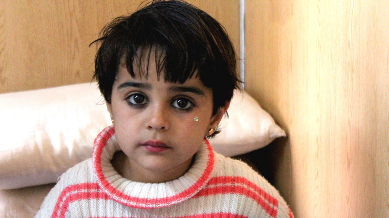 Malak, 5 ans, est prise en charge par Handicap International en Jordanie.