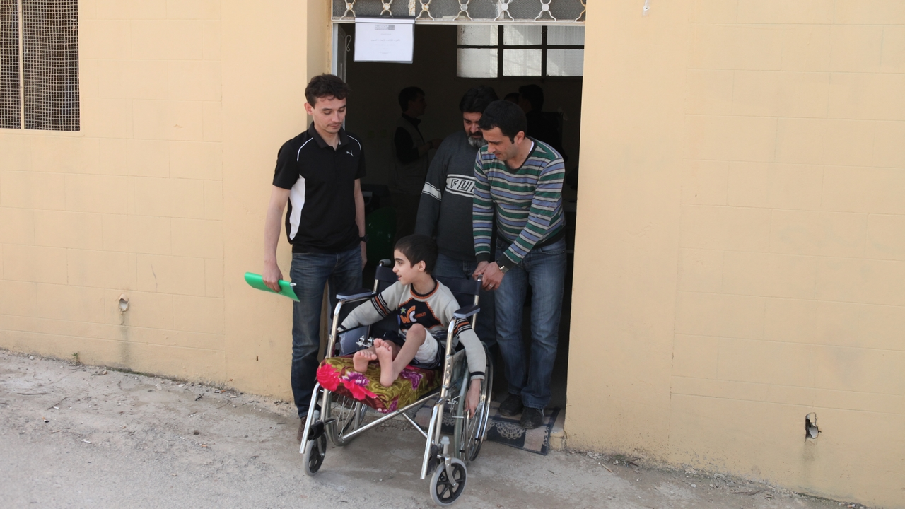 Centre de réadaptation de Handicap International en Syrie