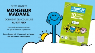En 2017, le Kit Plio de Handicap International est aux couleurs de Monsieur Madame