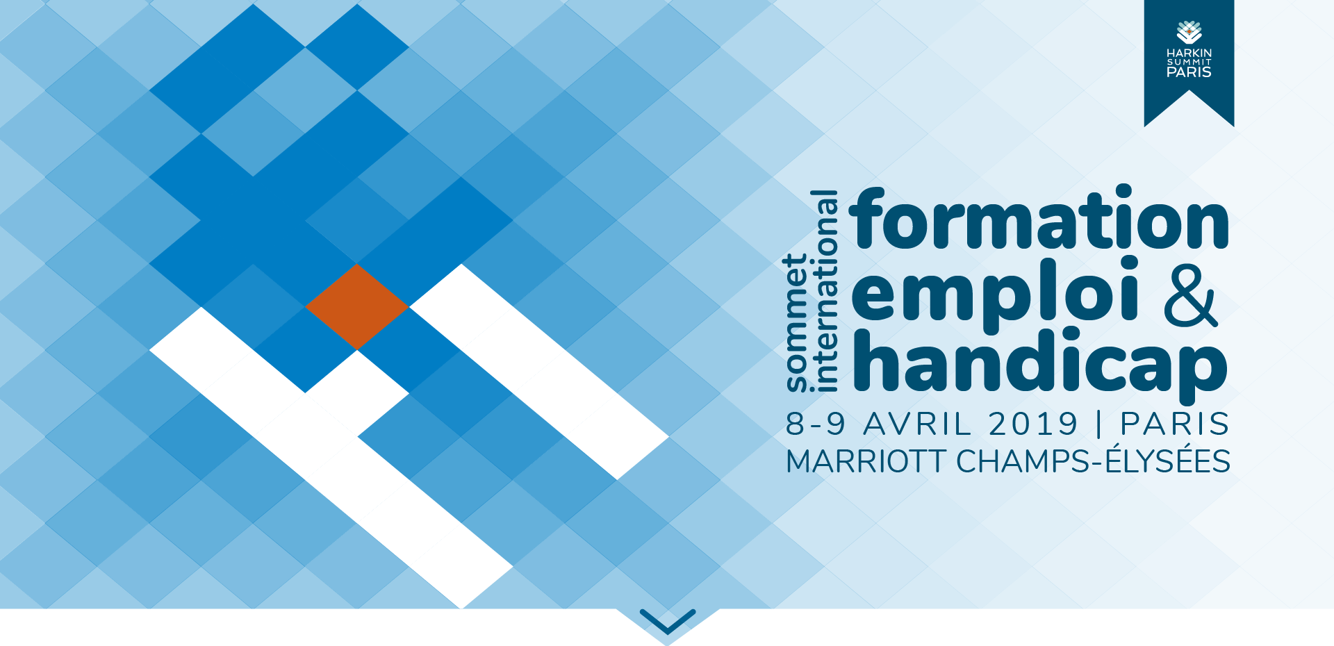 Sommet International Formation emploi & handicap / 8-9 avril - Paris, Marriott Champs Elysée