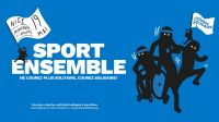 Affiche de l'édition niçoise de Sport Ensemble 2018, organisé par Handicap International; }}