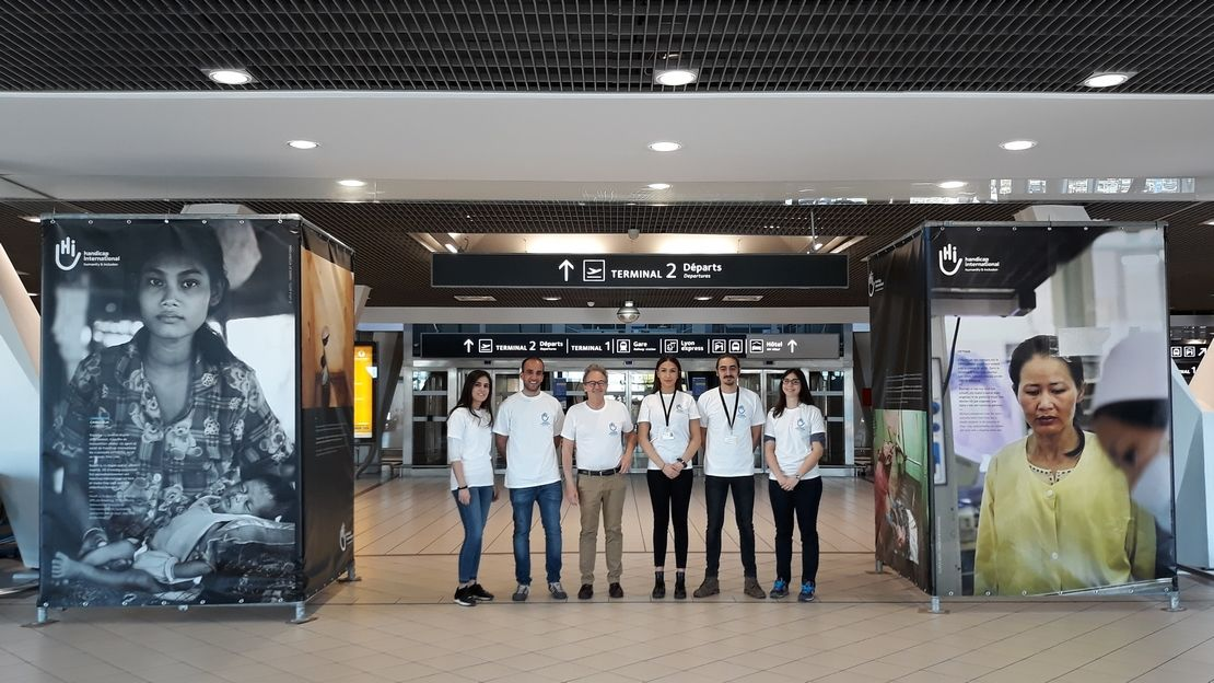 "Exposition ""Welcome to Life"" de Handicap International, jusqu'au 30 mai 2018 dans le terminal 1b de l'aéroport Lyon-Saint-Exupéry"
