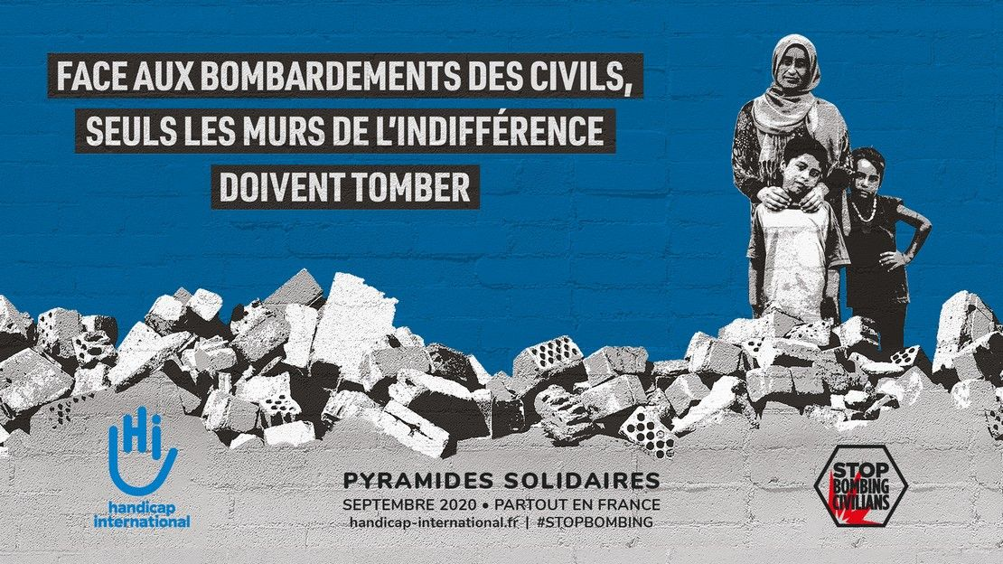 26es Pyramides solidaires de Handicap International, en septembre 2020 dans toute la France