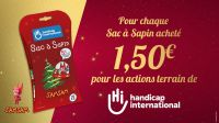 Sac à Sapin 2019 de Handicap International, avec le film d'animation SamSam; }}