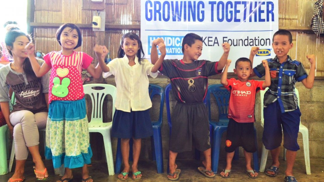 "Projet ""Growing Together"" de Handicap International, avec le soutien de la Fondation IKEA"