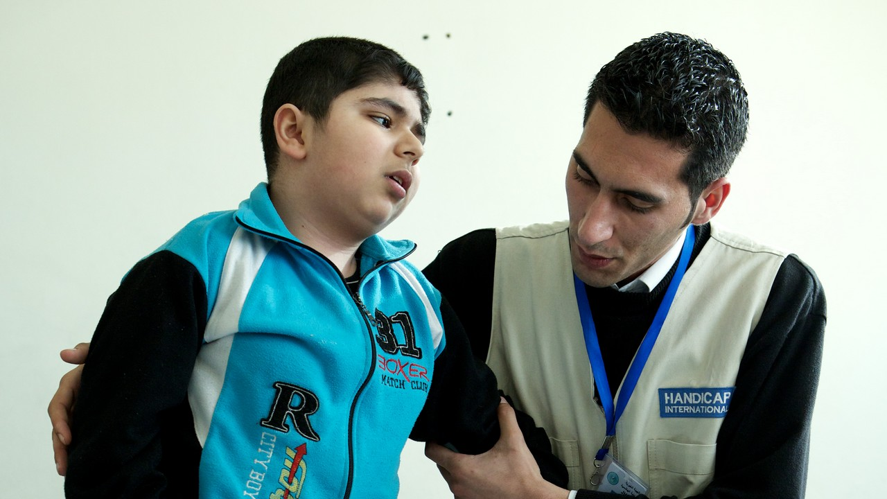 Jeune Syrien pris en charge par Handicap International en Jordanie.