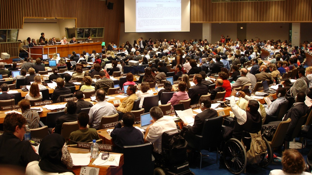 Adoption par l'ONU en 2006 de la Convention relative aux droits des personnes handicapées, dont Handicap International a contribué à l'élaboration; }}