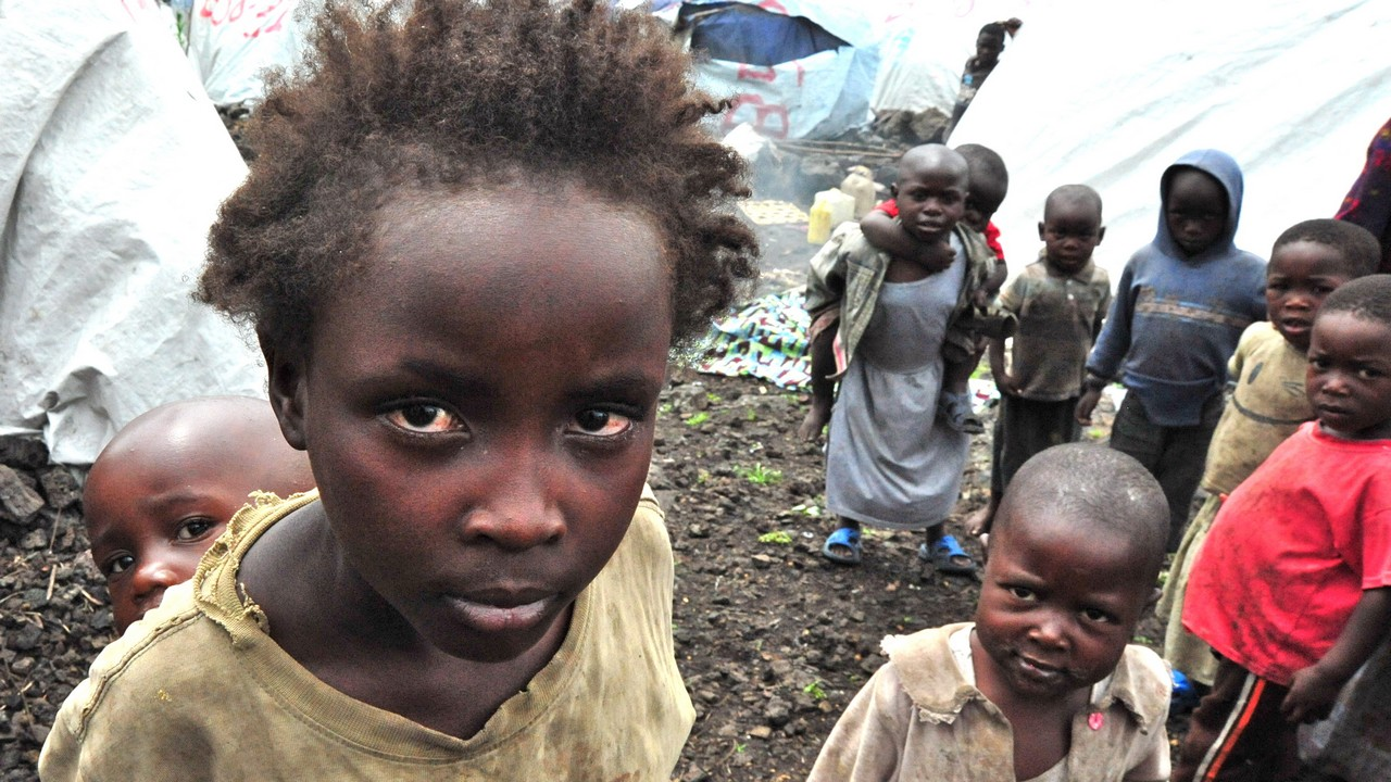Enfants dans un camp de réfugiés en RDC (photo d'archive Handicap International)